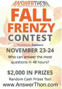Fall Frenzy AnswerThon Blog Banner